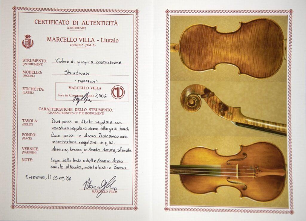 Villa certificate 1